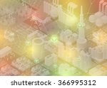 internet of things  city and... | Shutterstock .eps vector #366995312