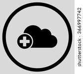 append cloud vector icon. style ... | Shutterstock .eps vector #366997742