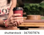 vintage tone female hand with... | Shutterstock . vector #367007876