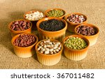 9 pottery containers with... | Shutterstock . vector #367011482