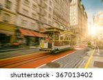 famous cable car near union... | Shutterstock . vector #367013402