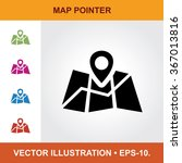 vector icon of map pointer with ...