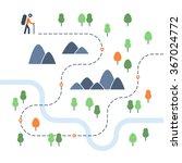 Hiking Map  Sport Orienteering...