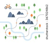 outdoor cycling map | Shutterstock .eps vector #367024862