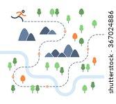 outdoor running map | Shutterstock .eps vector #367024886