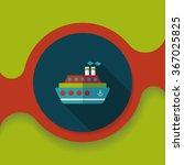 transportation ferry flat icon... | Shutterstock .eps vector #367025825