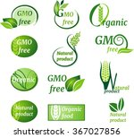 organic labels   Shutterstock .eps vector #367027856