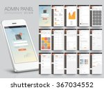 different ui  ux  gui screens... | Shutterstock .eps vector #367034552