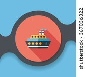 transportation ferry flat icon... | Shutterstock .eps vector #367036322