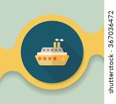transportation ferry flat icon... | Shutterstock .eps vector #367036472