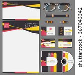 corporate template publication. ... | Shutterstock .eps vector #367043342