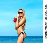 Beach Sea Blue Sky Summer...
