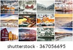 collage of winter and...   Shutterstock . vector #367056695