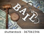 Judges Gavel  White Sign Bail...