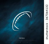 american football black... | Shutterstock .eps vector #367064132