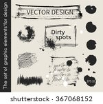 dirty spots. vector... | Shutterstock .eps vector #367068152