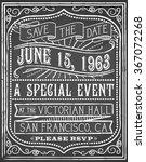 vintage chalk poster   vintage... | Shutterstock .eps vector #367072268