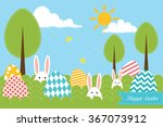 Background With Eggs  Trees ...