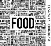 food word cloud background ... | Shutterstock .eps vector #367079756