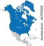 members of nato in north america | Shutterstock .eps vector #36709000