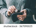 hands holding british pound... | Shutterstock . vector #367090025