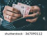 Hands Holding Turkish Lira...