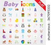 baby. icon set for web and... | Shutterstock .eps vector #367095332