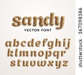 Vector Sand Font. Realistic...