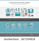 healthcare and medicine web... | Shutterstock .eps vector #367104818