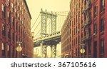 retro stylized manhattan bridge ...   Shutterstock . vector #367105616