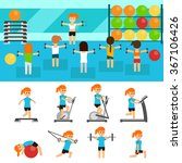 fitness infographic elements... | Shutterstock .eps vector #367106426