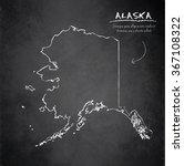 alaska map blackboard... | Shutterstock .eps vector #367108322