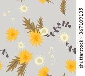 dandelions. vector seamless... | Shutterstock .eps vector #367109135