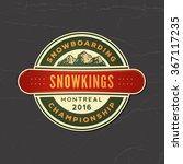 snowboarding emblem. logotype... | Shutterstock .eps vector #367117235