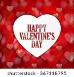 happy valentines day poster on...   Shutterstock .eps vector #367118795
