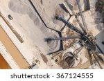 Aerial  View Of  Rock Quarry I...
