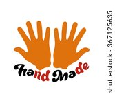 hand made   perfect design... | Shutterstock .eps vector #367125635