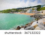 ventnor beach and seafront isle ... | Shutterstock . vector #367132322