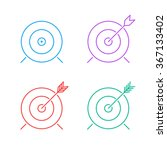 target icon set. flat line... | Shutterstock .eps vector #367133402