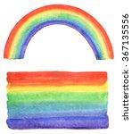 watercolor rainbow and gradient ... | Shutterstock . vector #367135556