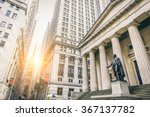 facade of the federal hall with ... | Shutterstock . vector #367137782