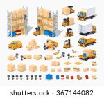 warehouse isometric infographic ... | Shutterstock .eps vector #367144082