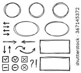 set of hand drawn elements for... | Shutterstock .eps vector #367145372