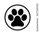 paw icon sign in a circle   Shutterstock .eps vector #367150232