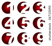 number icons. vector set. | Shutterstock .eps vector #36715090