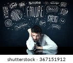 young depressed businessman... | Shutterstock . vector #367151912