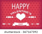 happy valentine's day poster... | Shutterstock .eps vector #367167392