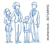 happy young family in business... | Shutterstock .eps vector #367168442
