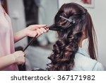 Closeup Hairdresser Coiffeur...
