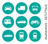 transportation icons. flat... | Shutterstock .eps vector #367177616